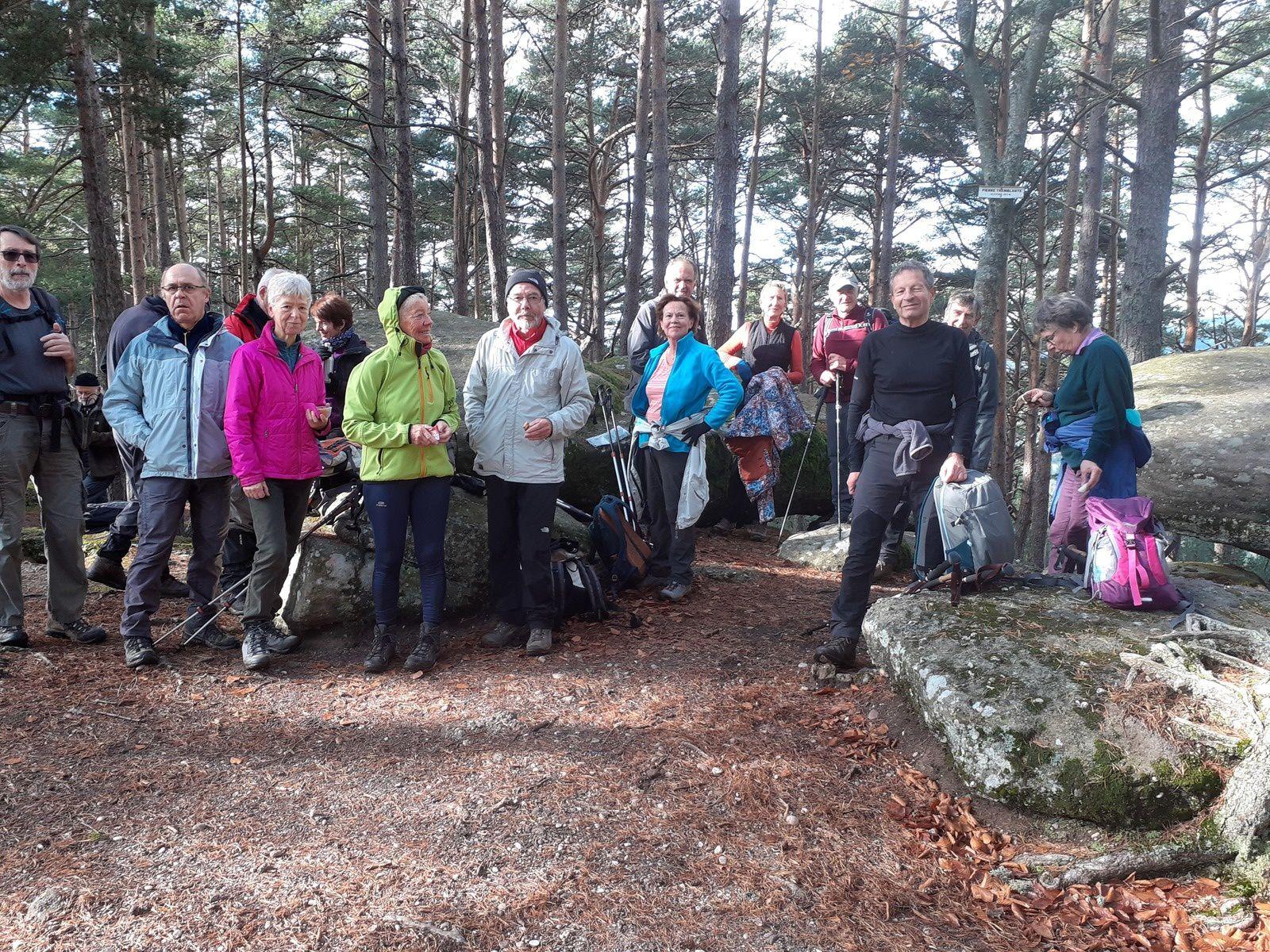 C'était le mercredi 6 novembre d'Orbey aux Hautes Huttes avec les randonneurs
