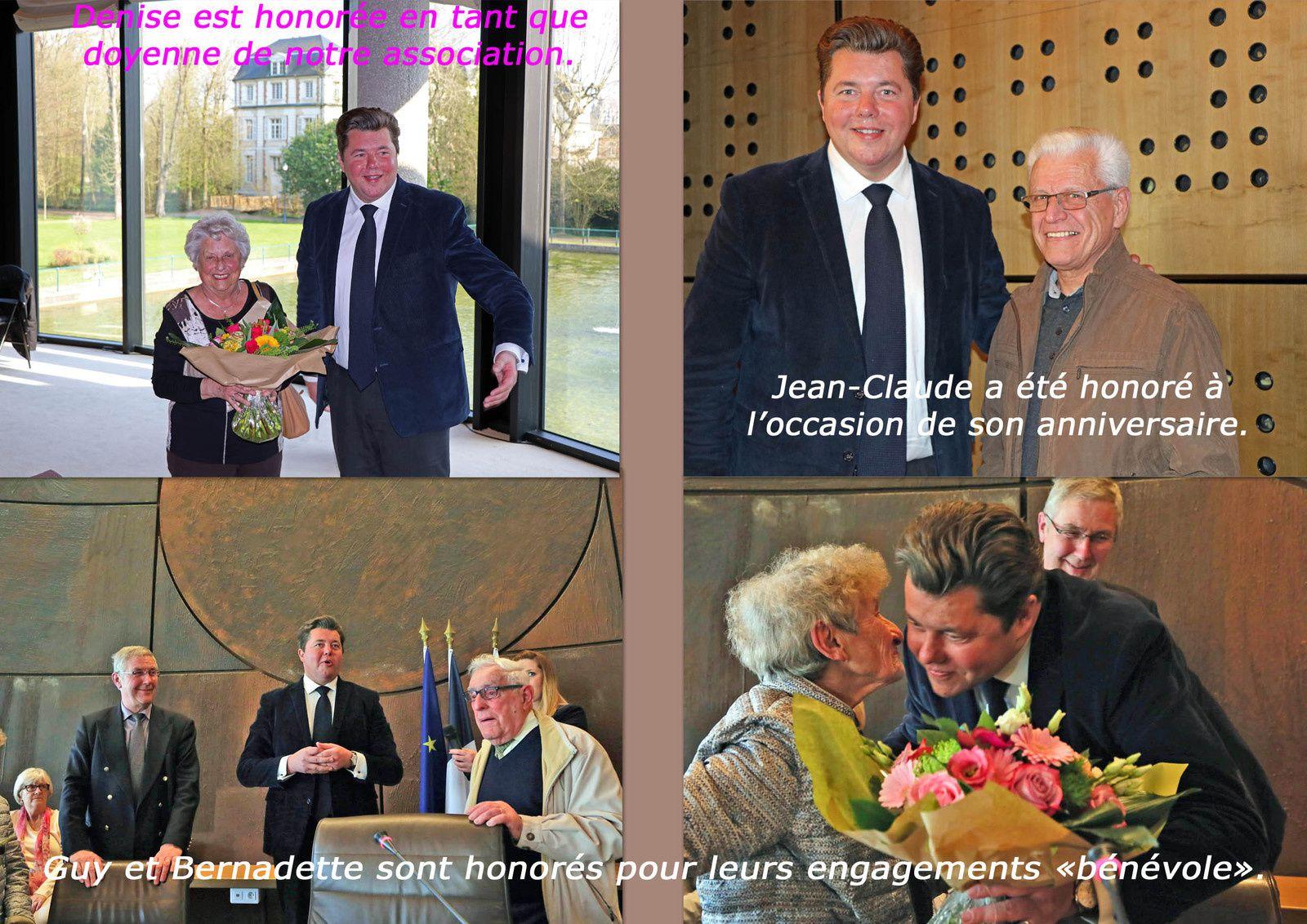Récompenses remises par Monsieur Edouard COURTIAL, Président du CONSEIL DEPARTEMENTAL à divers titres.