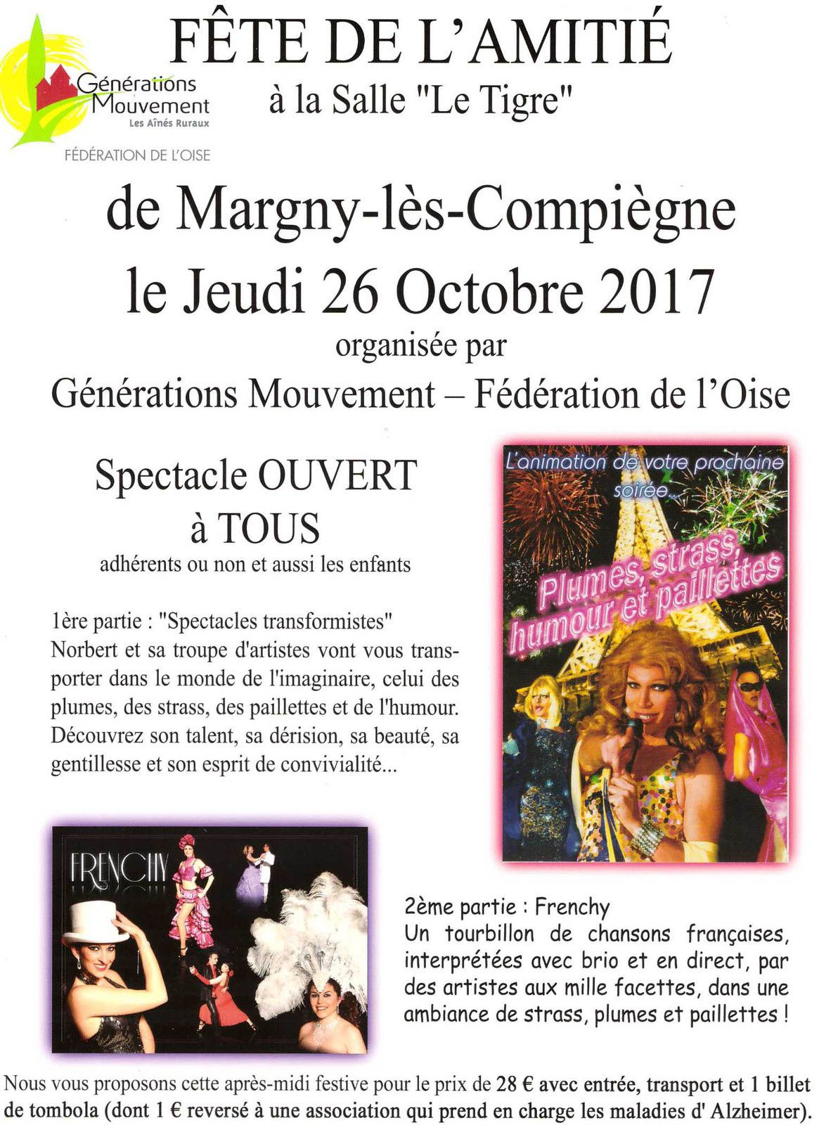 jeudi 26 octobre 2017 fete de l 39 amitie la salle le tigre margny les compiegne. Black Bedroom Furniture Sets. Home Design Ideas