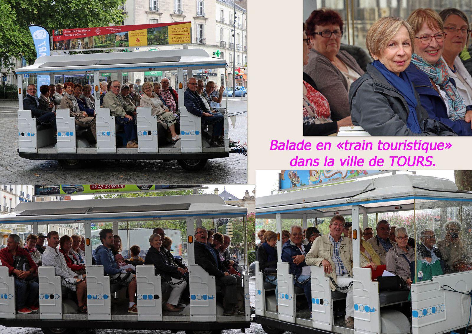 """Balade en """"train touristique"""" dans la ville de TOURS"""