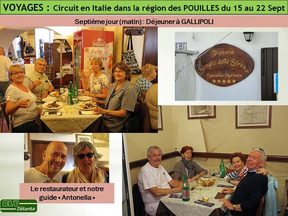 Voyage 2017 (N°3) : Voyage dans les POUILLES au Sud de l'ITALIE du 15 au 22 Septembre 2017