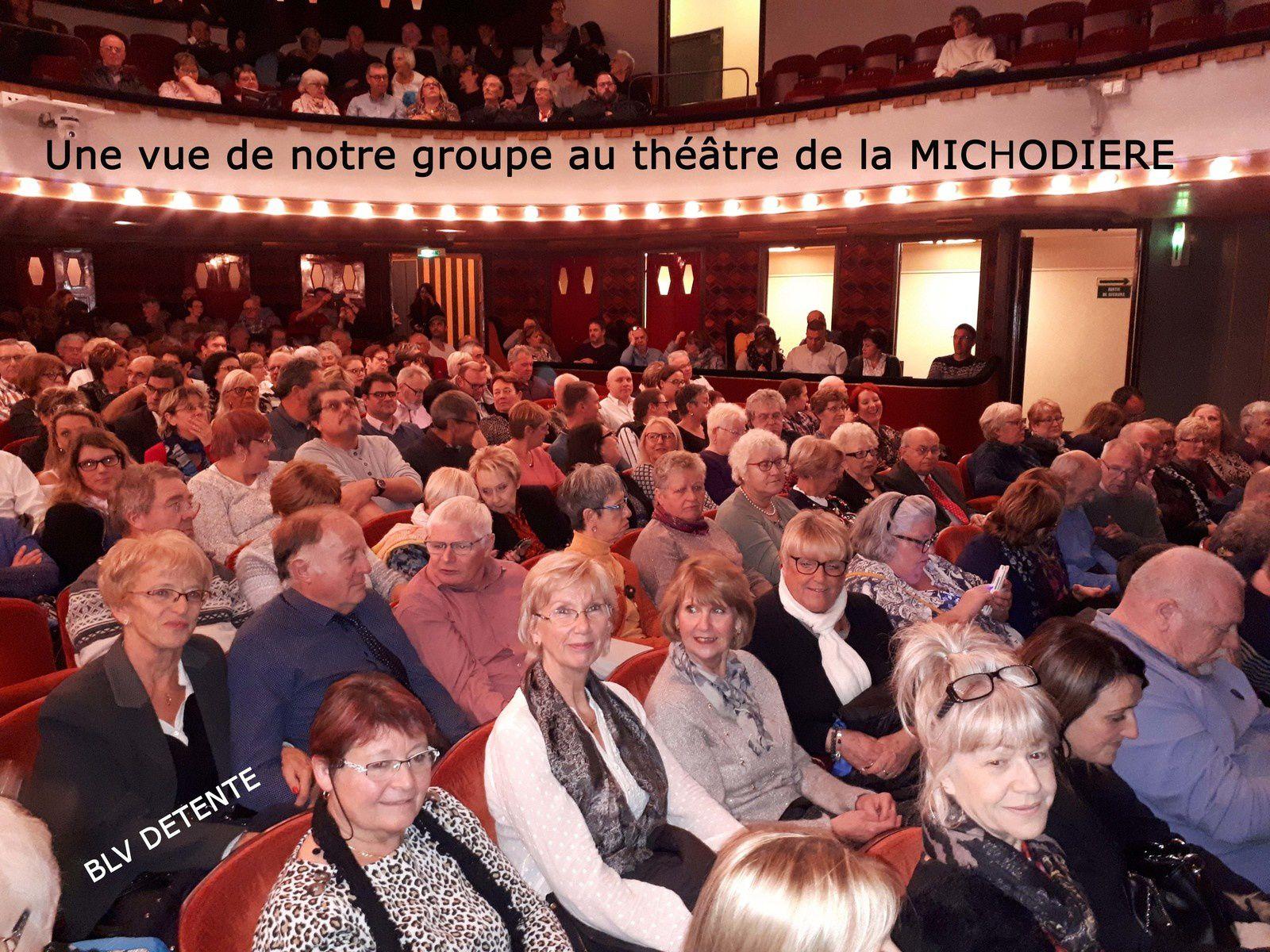 """Samedi 9 Novembre 2019 : Sortie """"THEATRE"""" à la MICHODIERE avec Michel SARDOU"""
