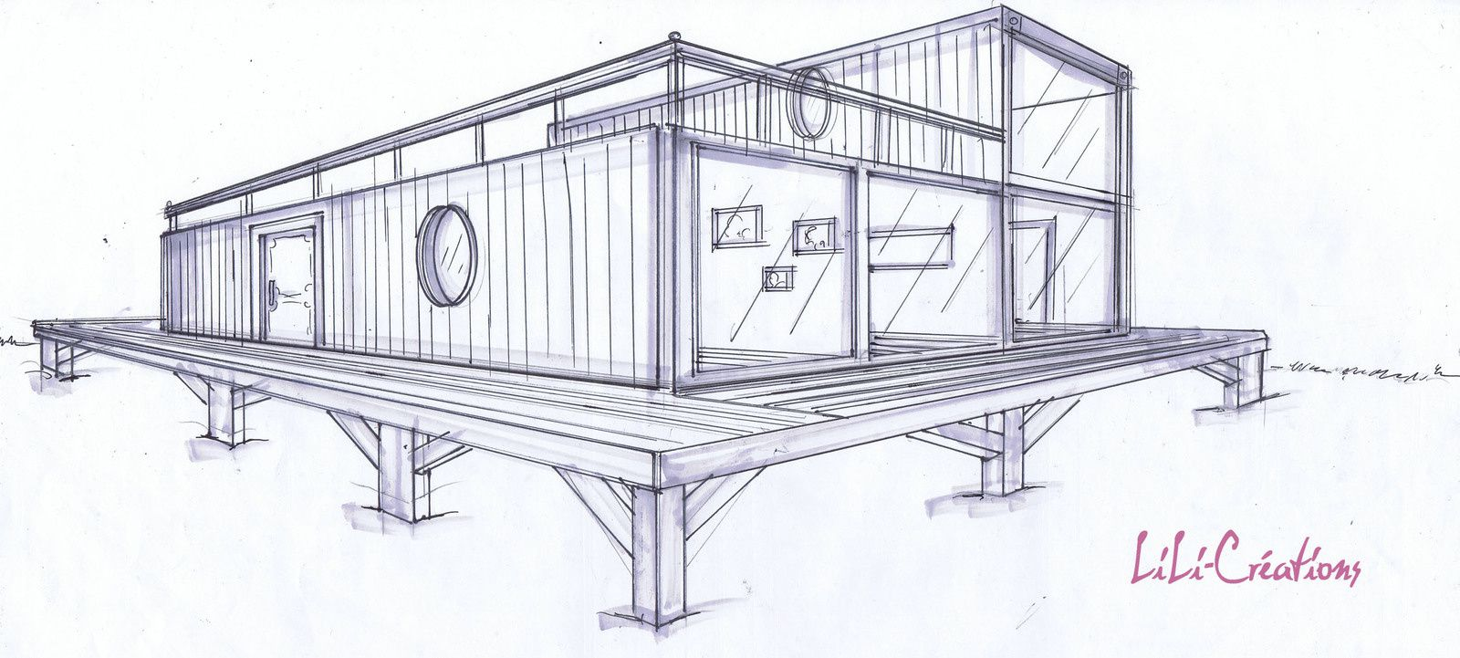 Construire sa maison container for Plan de maison container