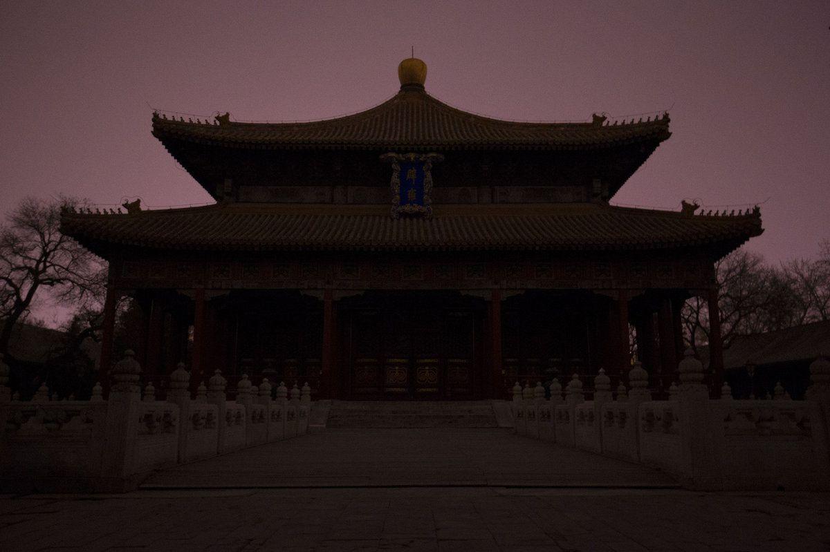 Las espectaculares imágenes de La Hora del Planeta 2016: El palacio  Biyong de Pekin, China. El Muni.