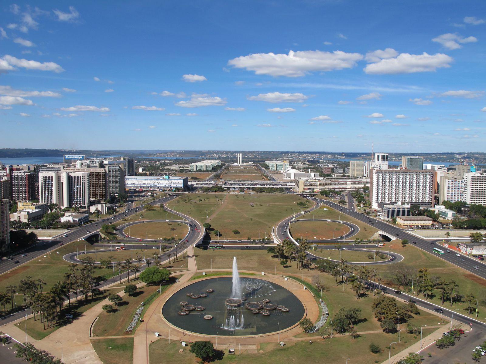 Una vista de Brasilia.- El Muni.
