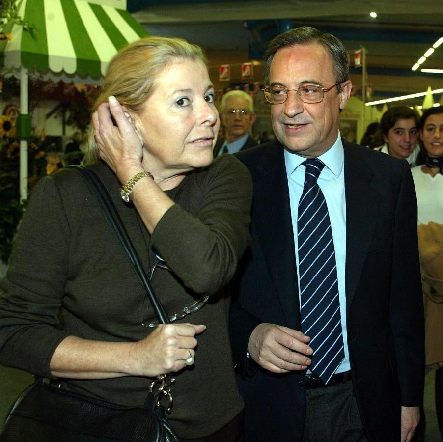 María de los Ángeles Sandoval que en paz descanse, fue esposa y mano derecha del presidente del Real Madrid, Florentino Pérez.- El Muni.