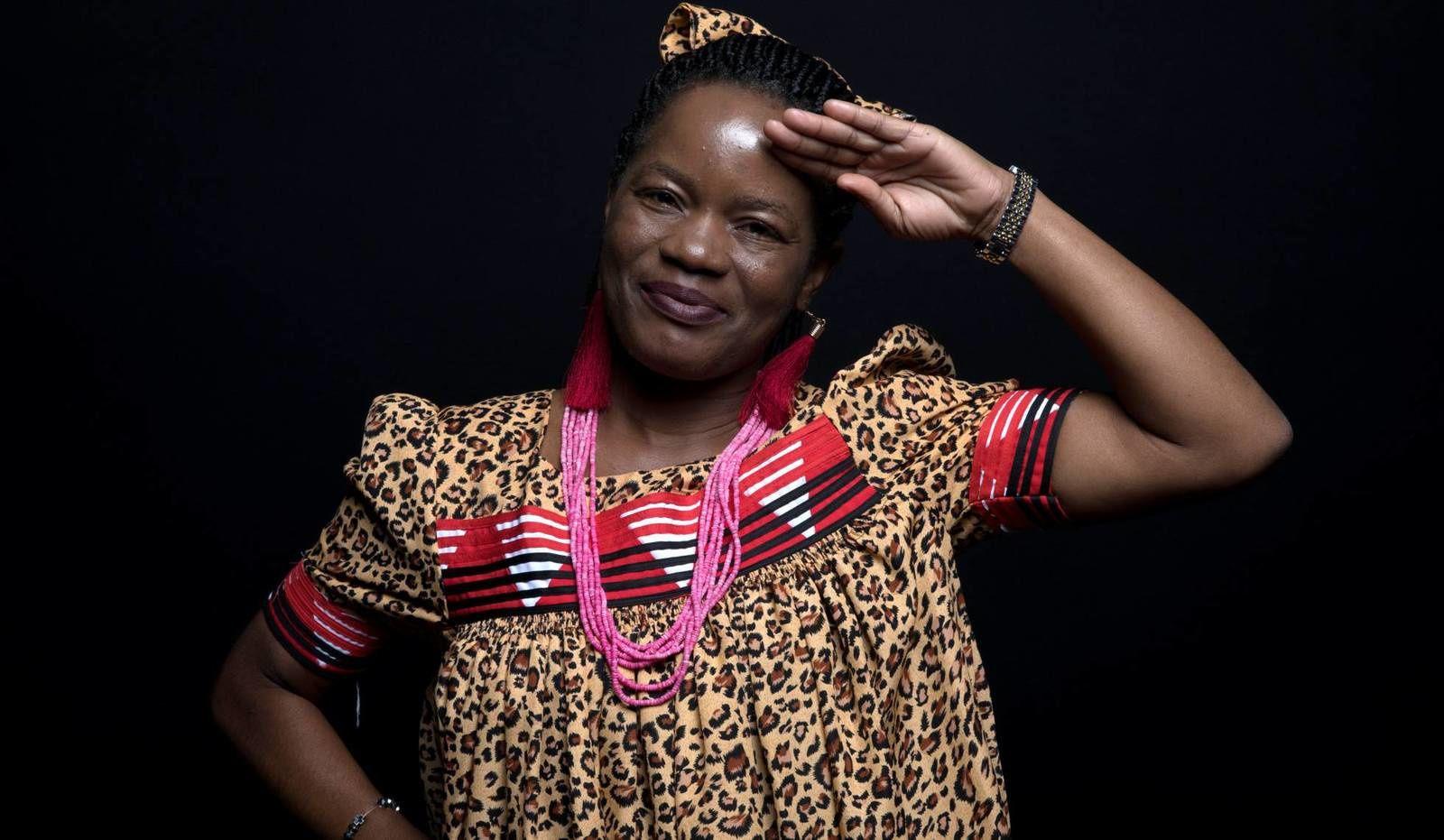 Nelago Kwedhi, primera mujer capitana de barco en Namibia, durante una visita a Madrid el 12 de marzo de 2019. Foto de Víctor Sainz.- El Muni.