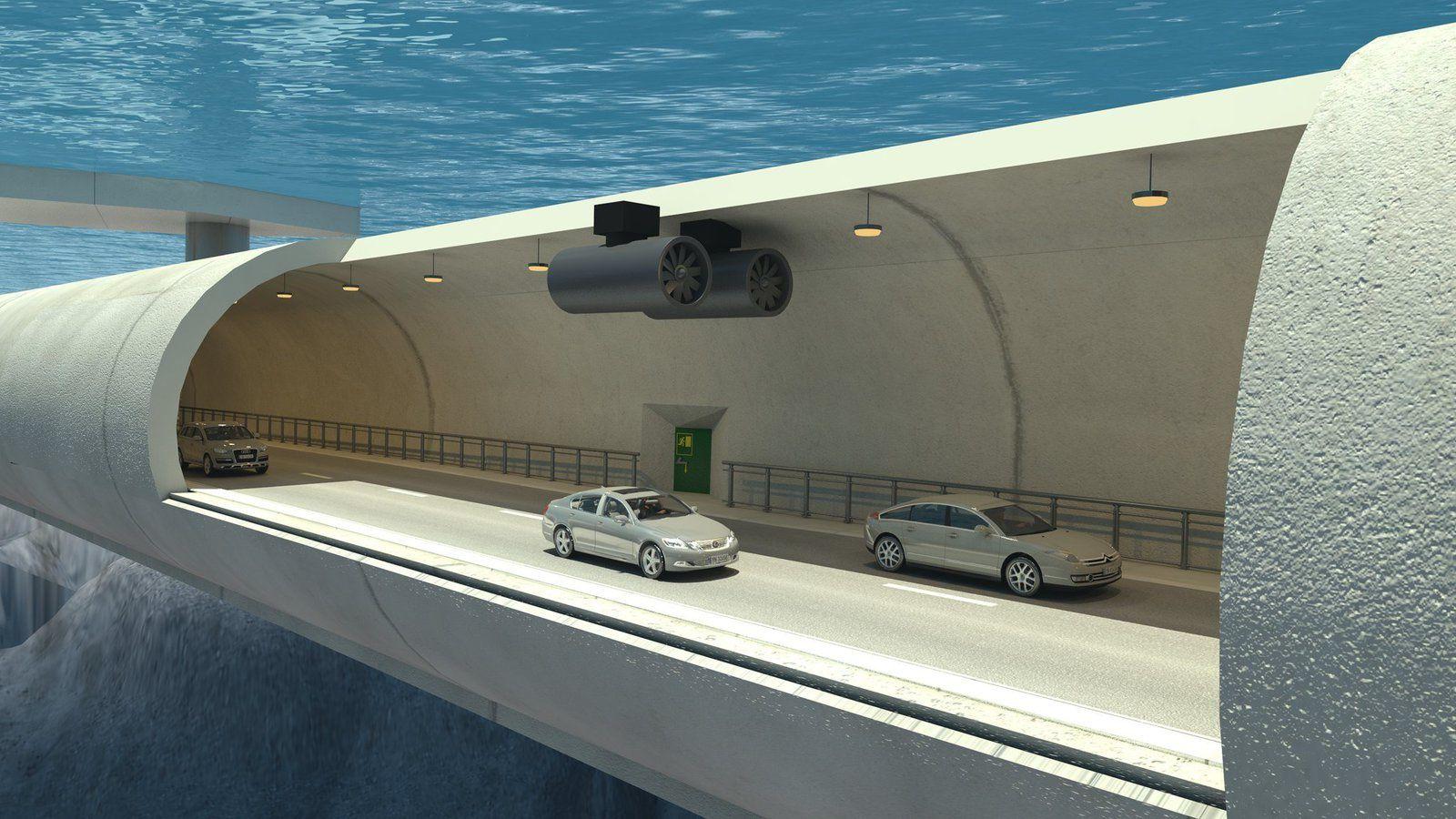 Ce tunnel en béton sera accroché à des flotteurs  et traversera le Sognefjord
