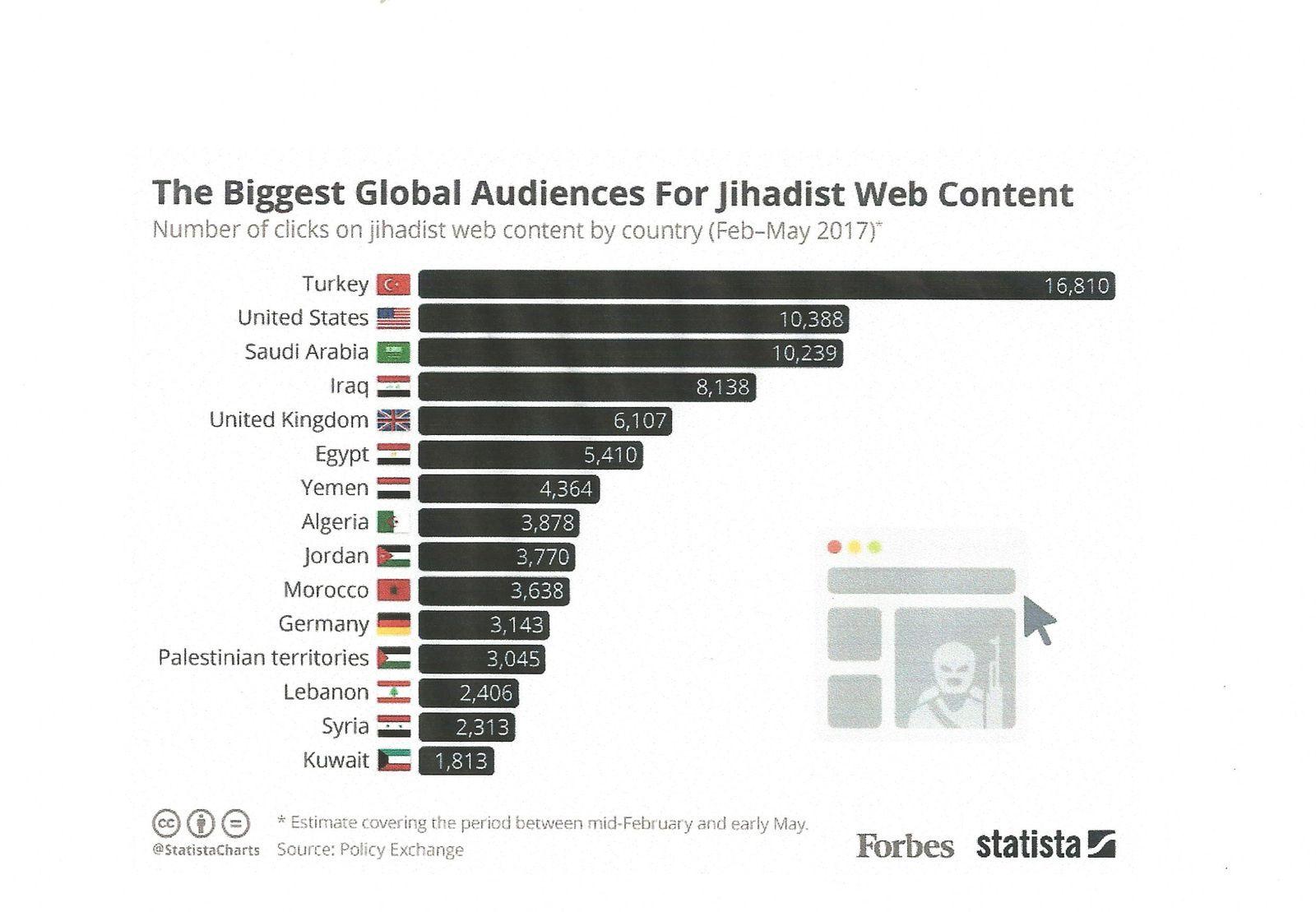 La propagande des Djihadistes sur internet touche peu la France