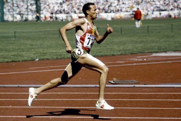 Saïd Aouita à Séoul en 1988.