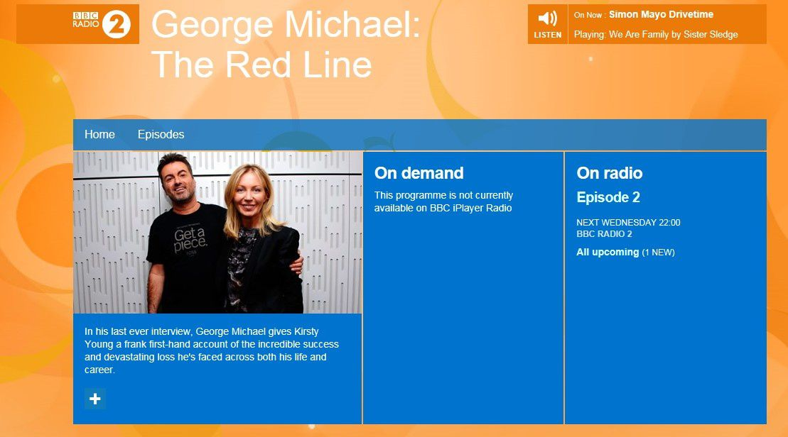 THE RED LINE : LA DERNIERE INTERVIEW DE GEORGE MICHAEL