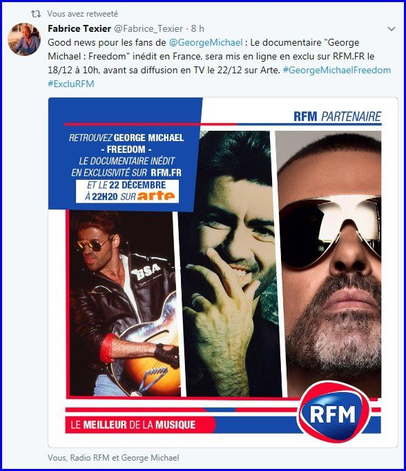 EXCLU RFM * LE DOCUMENTAIRE FREEDOM DE GEORGE MICHAEL SUR RFM.FR LE 18 DECEMBRE ! *