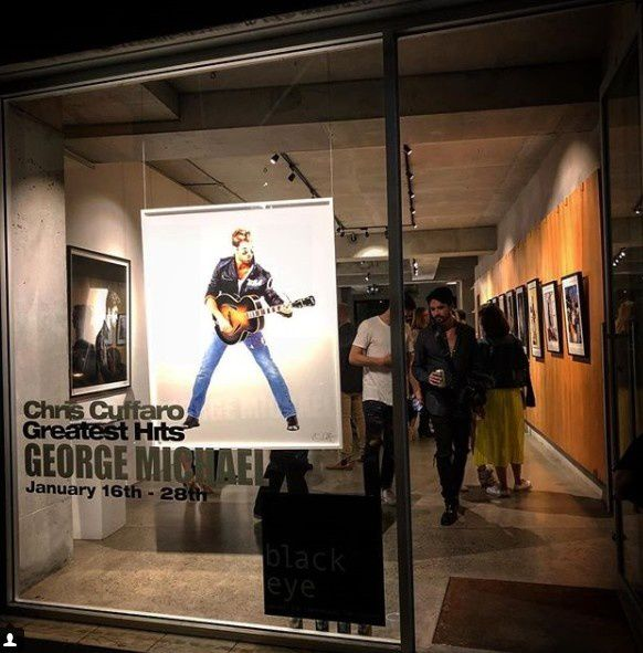 EXPOSITION DE PHOTOS DE GEORGE MICHAEL PAR CHRIS CUFFARO A SYDNEY