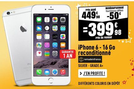 bon plan iphone 6 399 euros chez electro d p t le blog. Black Bedroom Furniture Sets. Home Design Ideas