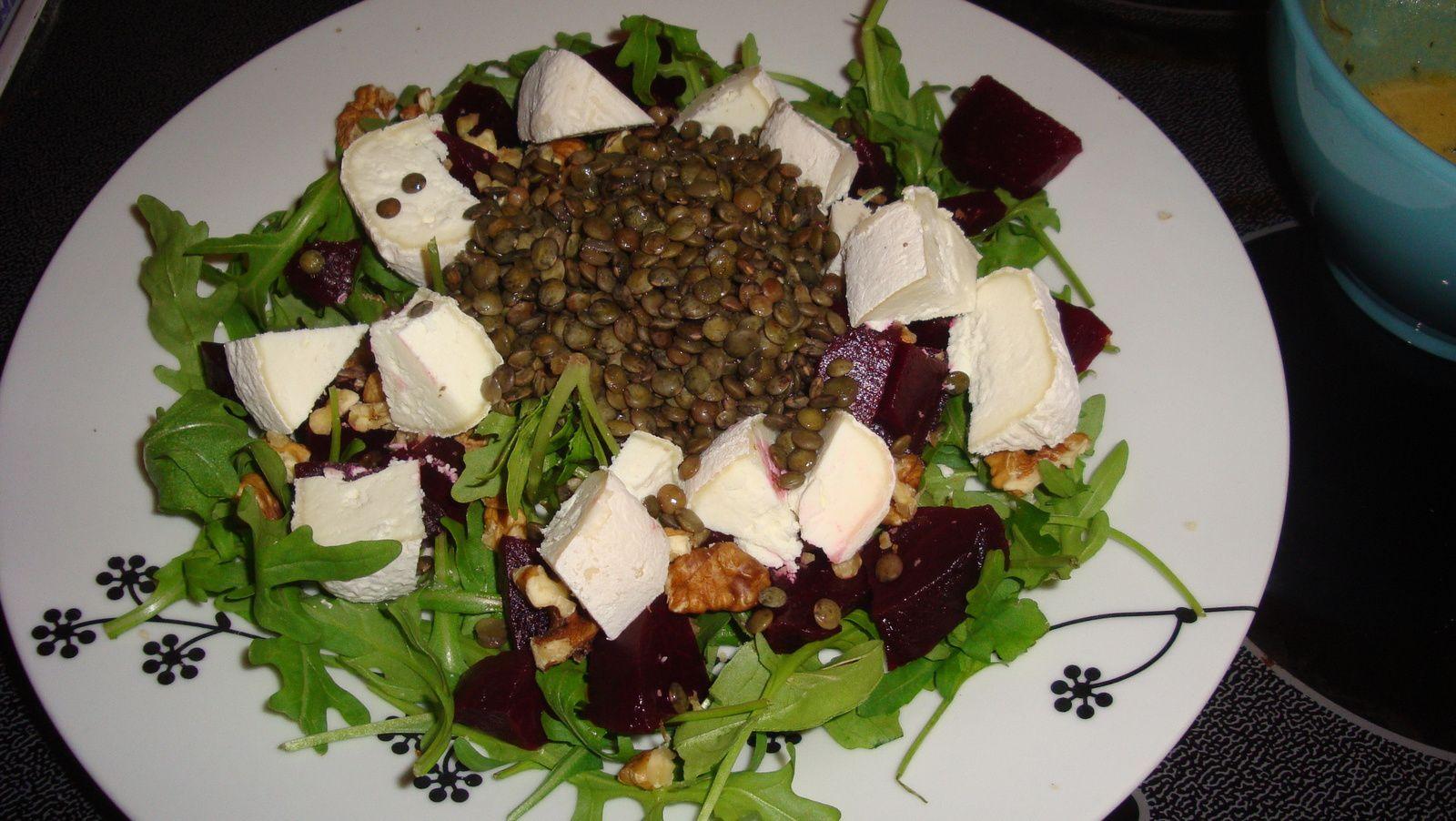 Salade de lentilles et de betterave