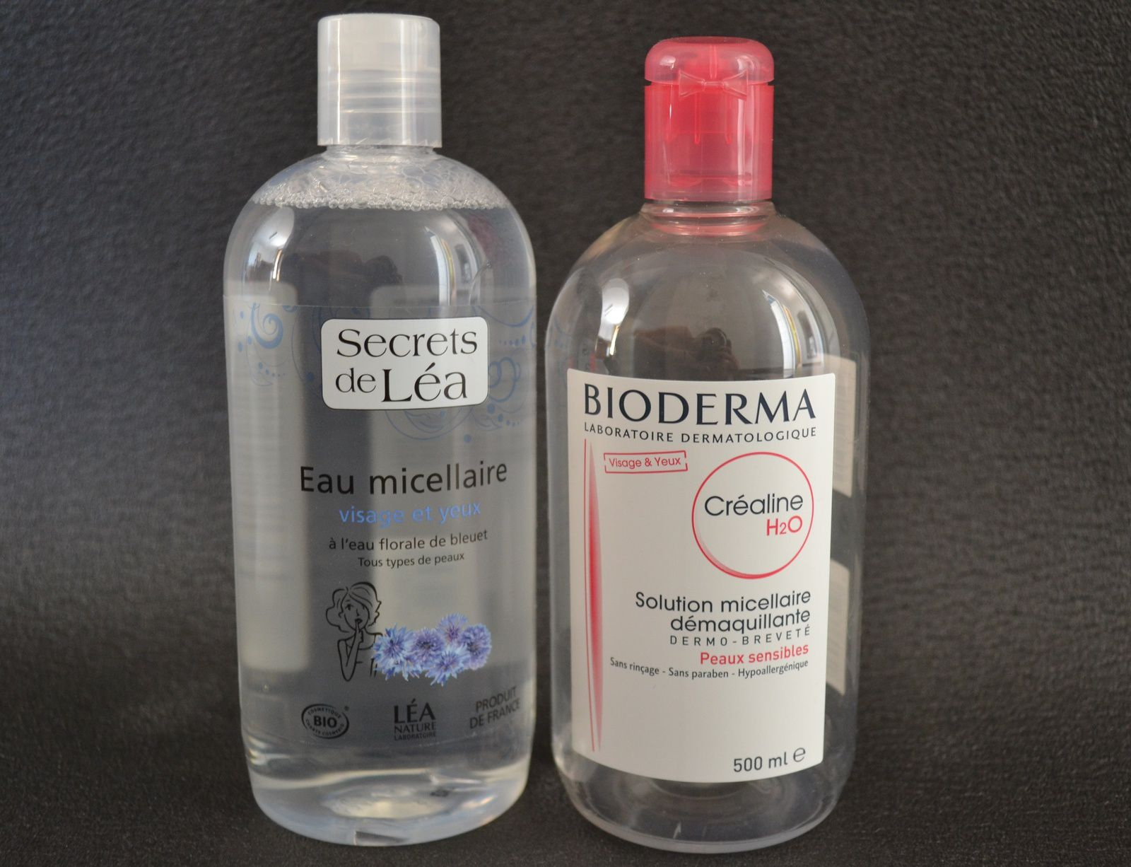 ... les eaux micellaires: Créaline H2O Vs Secrets de Léa