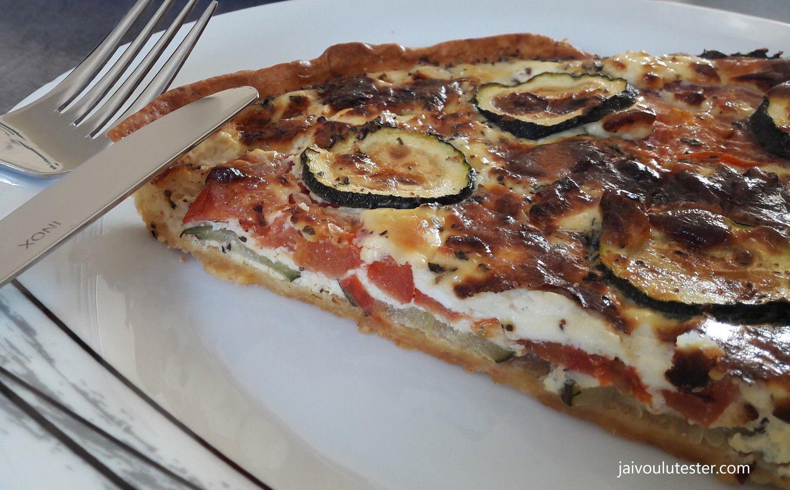 ... la tarte salée tomates feta courgettes: un régal!