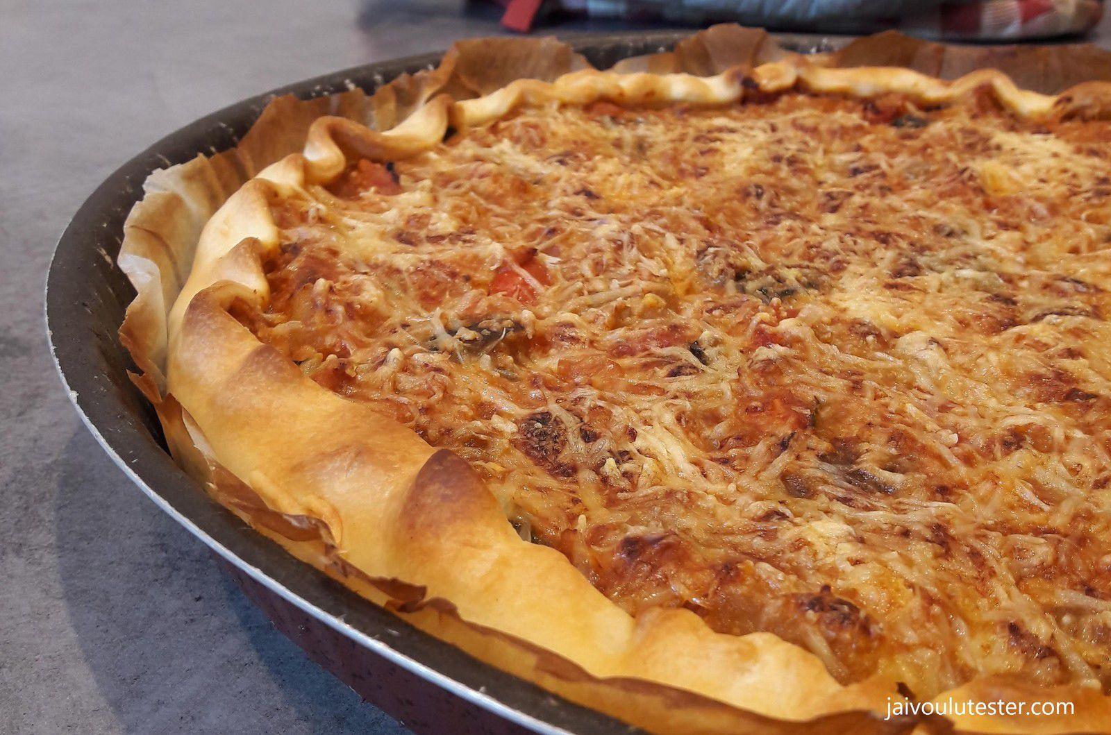 ... la tarte salée express à la ratatouille et au thon