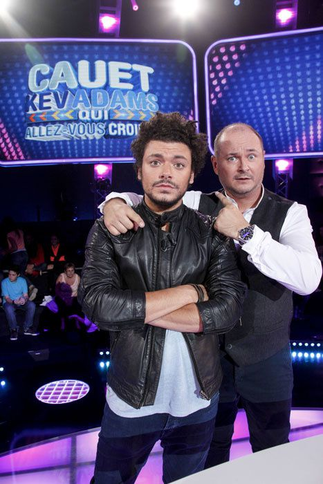 Cauet et Kev Adams (Crédit photo : JLPPA)
