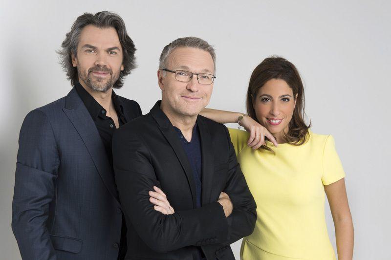 Aymeric Caron, Laurent Ruquier et Léa Salamé (Crédit photo : Nathalie Guyon / FTV)