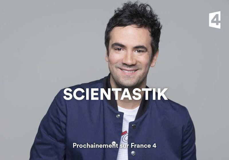 Coup d'envoi de « Scientastik » présenté par Alex Goude ce soir sur France 4