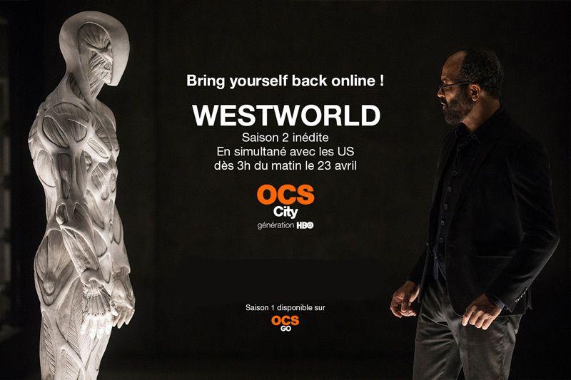 La saison 2 de Westxorld diffusée en simultanée avec les Etats-Unis le 23 avril sur OCS city (vidéo)