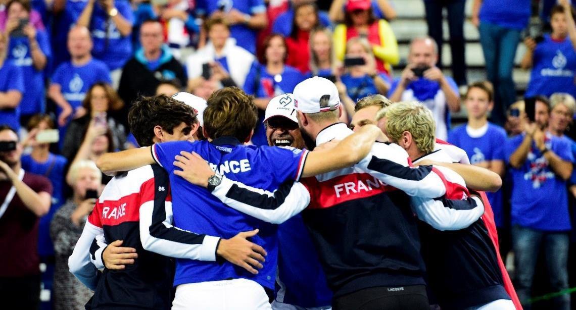 L'équipe de France de Coupe Davis (Crédit photo : JB Autissier/Panoramic)