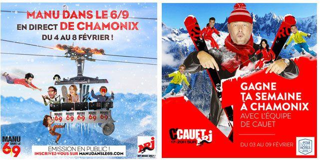 Manu et Cauet en direct des pistes de Chamonix la semaine prochaine sur NRJ
