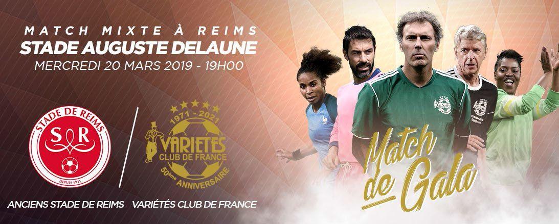 Le match de Gala Mixte Variétés Club de France - Stade de Reims diffusé le 20 mars sur beIN SPORTS
