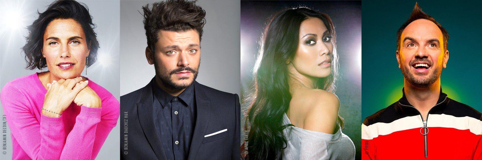 """Alessandra Sublet, Kev Adams, Anggun et Jarry seront les """"enquêteurs"""" de « Mask Singer », la nouvelle émission événement de TF1"""