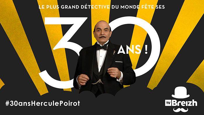 Hercule Poirot fête ses 30 ans avec une programmation spéciale sur TV Breizh