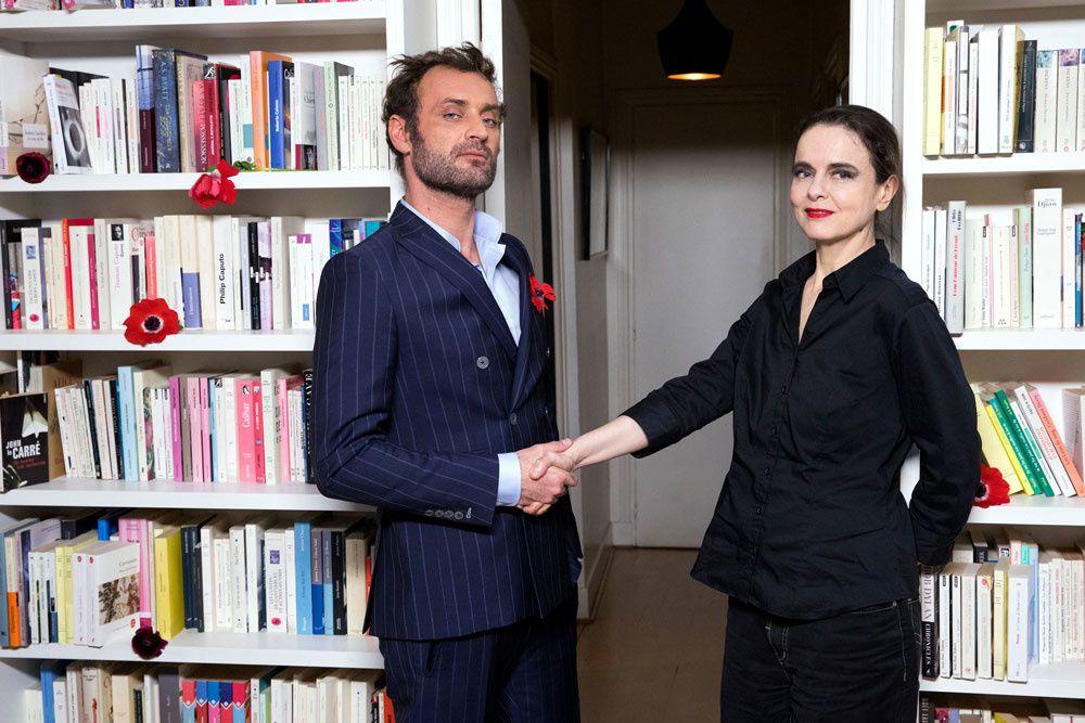 Augustin Trapenard et mélie Nothomb (Crédit photo : hilippe Mazzoni / Canal+)