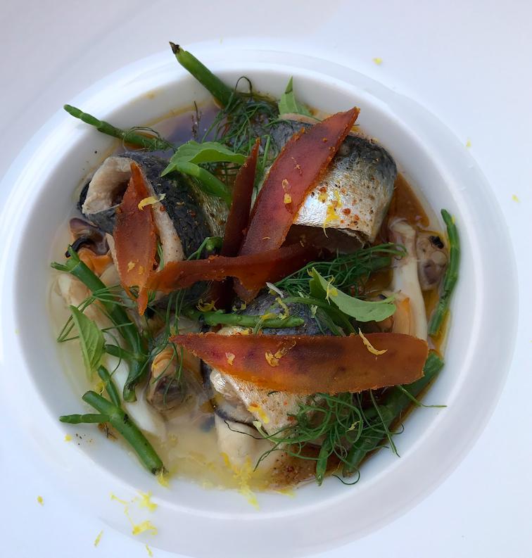 Les sardines et coquillages