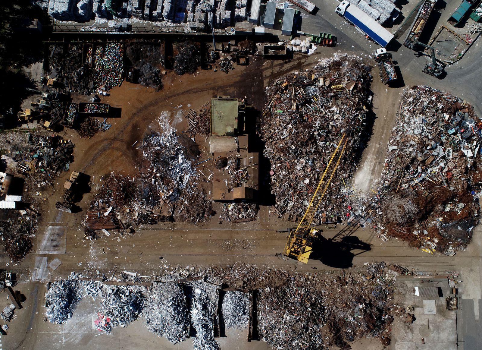 L'usine de recyclage de matières de Rocquancourt. Photos aériennes François Monier, juin 2018