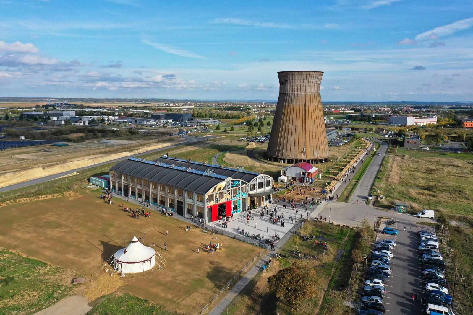 Grosse affluence à Colombelles lors de l'inauguration du Wip ce samedi 12octobre. Photo aérienne François Monier
