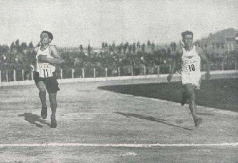 1 - Juan Ramos llegando a meta. 2 - Oyarbide y Peña, segundo y tercer clasificados.