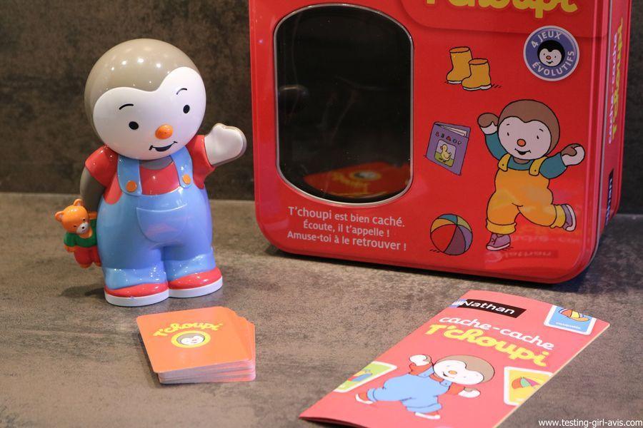 Le jeu T'choupi cache cache de Nathan : un jeu évolutif et éducatif