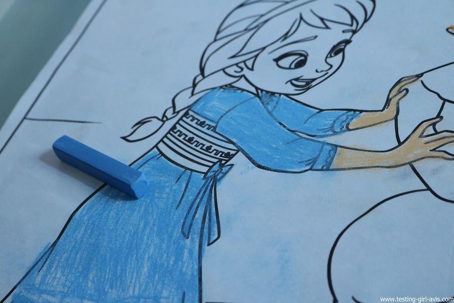 coloriages disney la reine des neiges crayola craie pastel elsa
