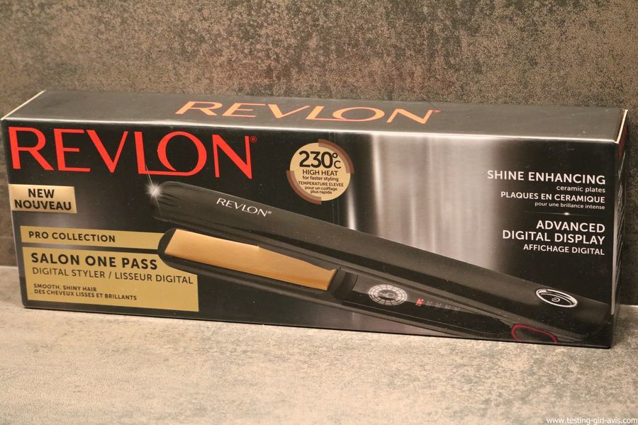 Fer à lisser Salon One-Pass Pro Collection Lisseur digital de Revlon