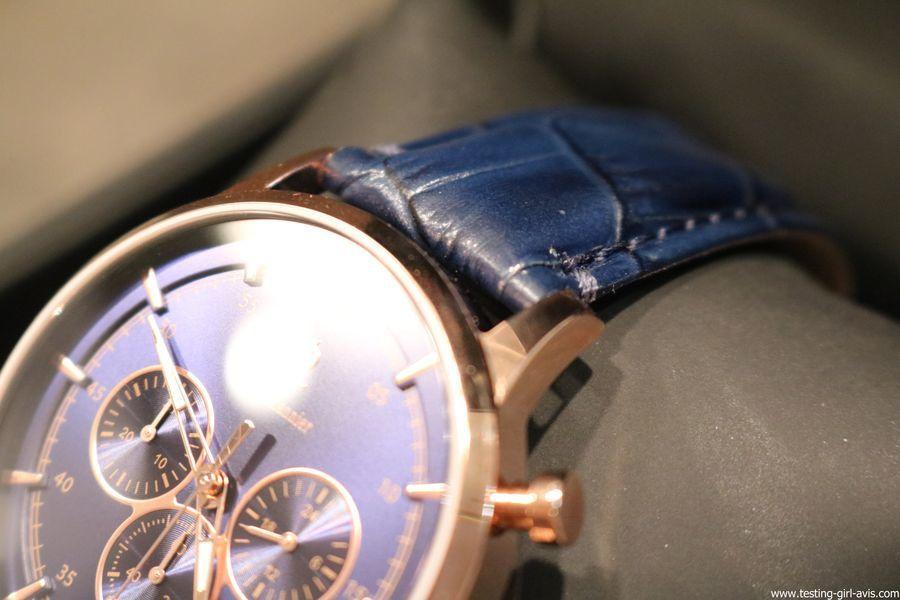 montre homme pierre lannier elegance chrono bleu