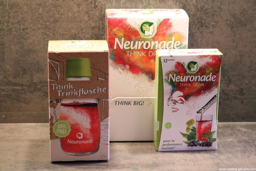 Neuronade think drink brain food boisson bouteille