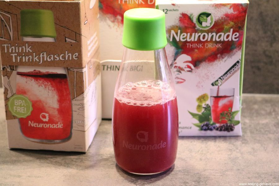 Neuronade think drink brain food boisson bouteille avis test