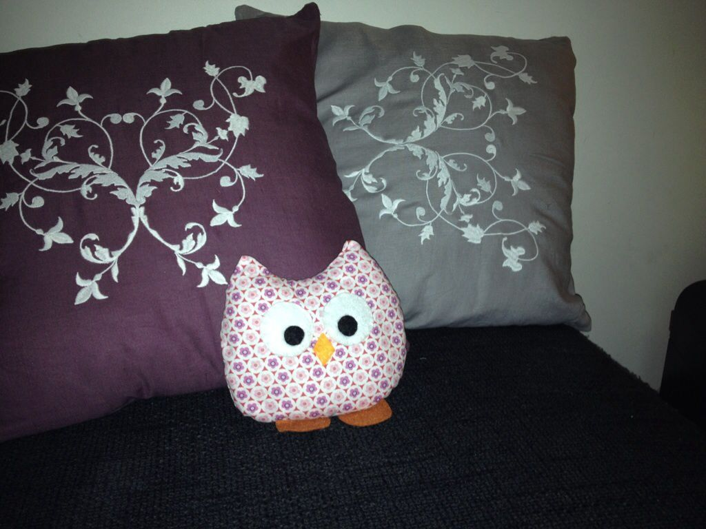 You did It Yourself : coussin/doudou hibou par Mariecha