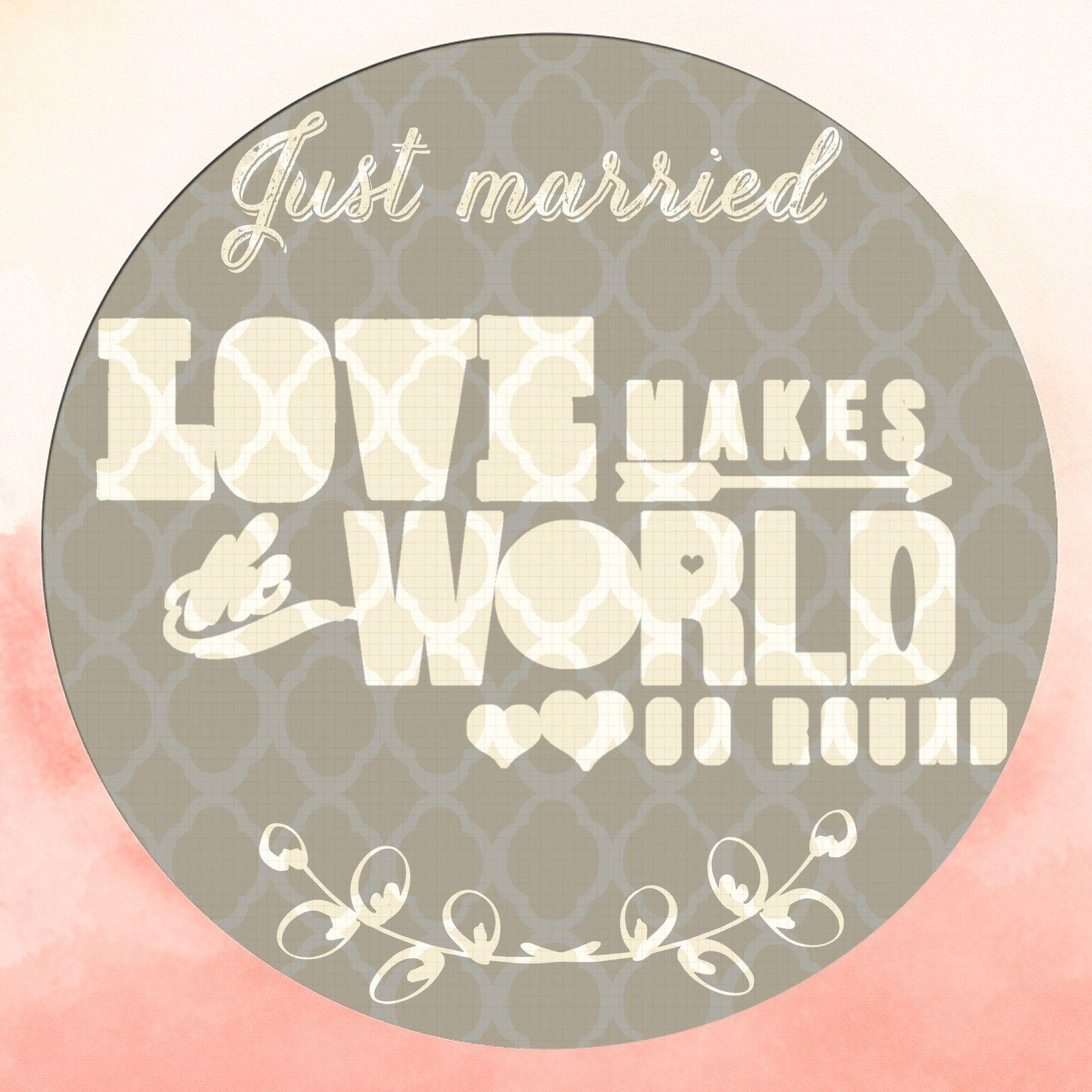 Wedding season: avatar / carton de félicitations