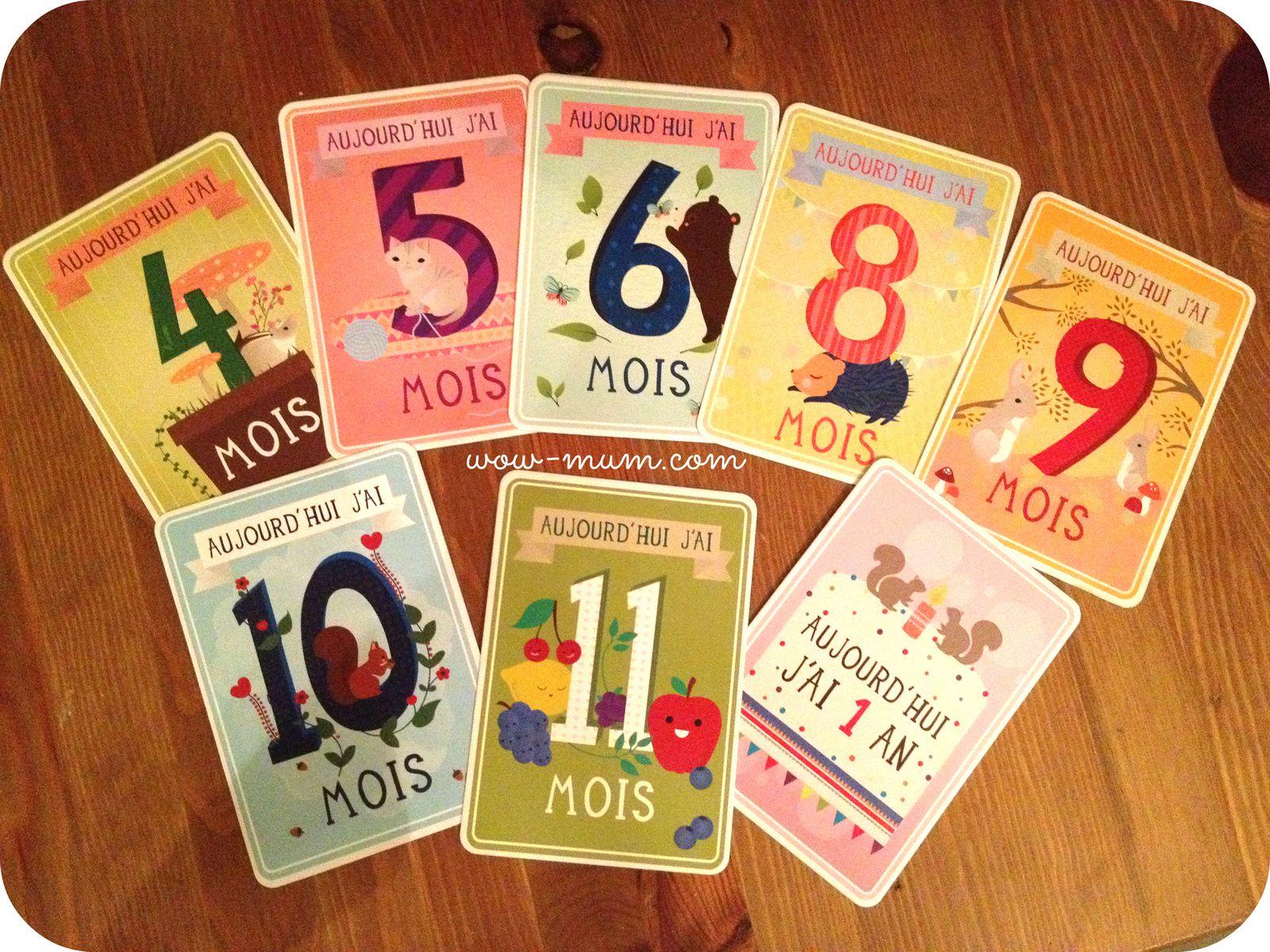 9 mois déjà : les Milestone Baby Cards