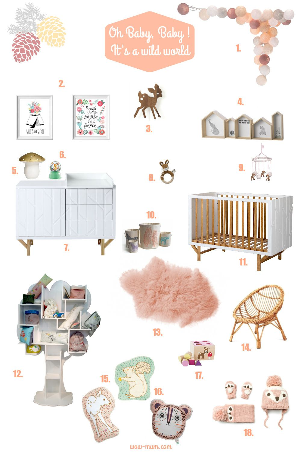 "Inspiration Chambre bébé ""Oh Baby, Baby ! It's a Wild World"""