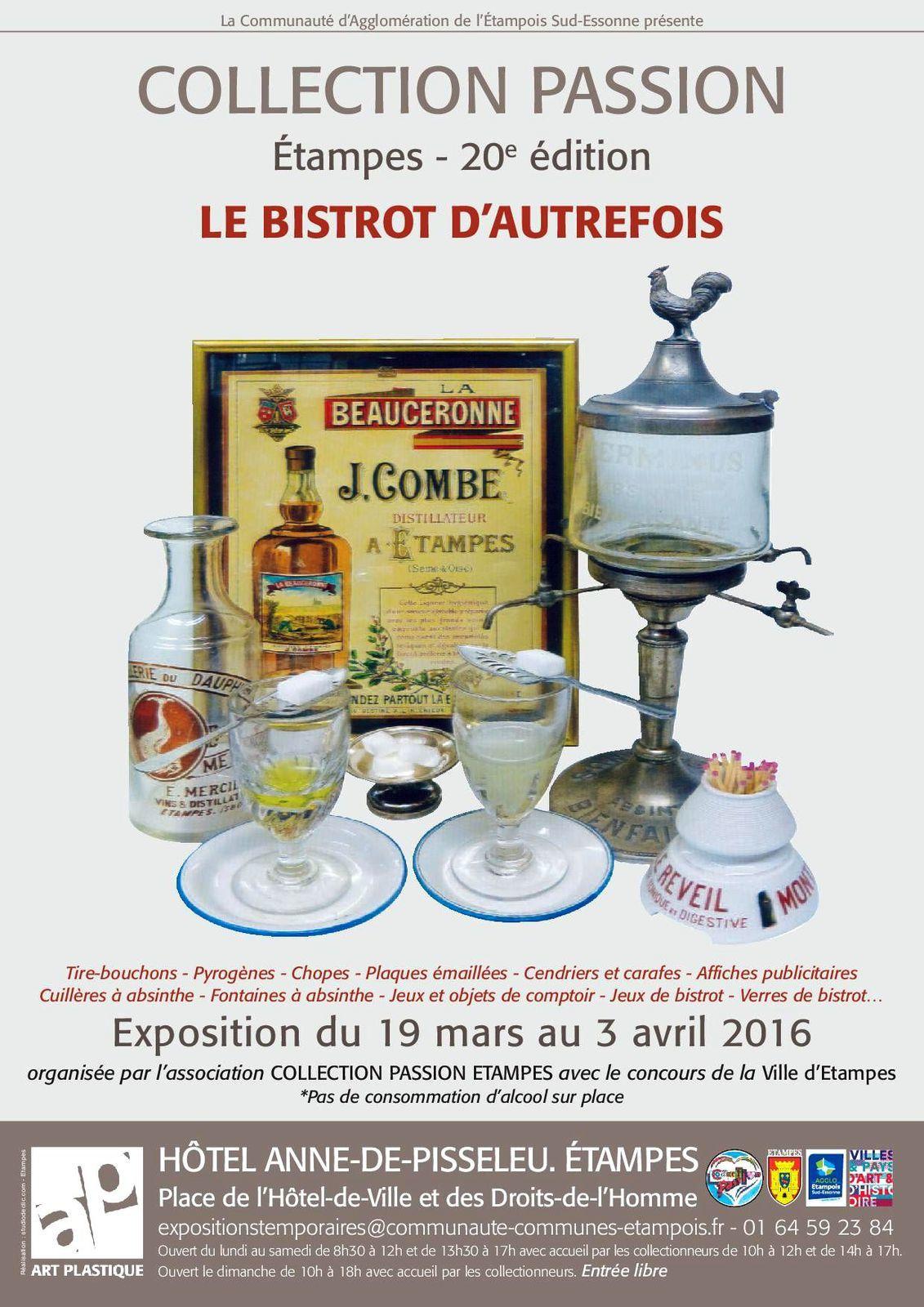 """Expo à Etampes: """"Le bistrot d'autrefois"""""""