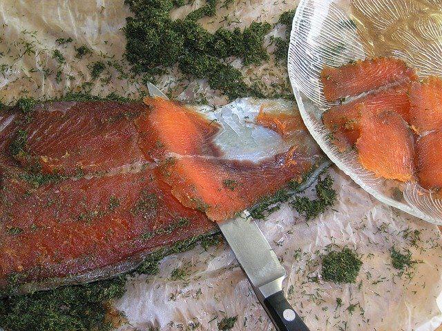 Saumon gravlax (maison)