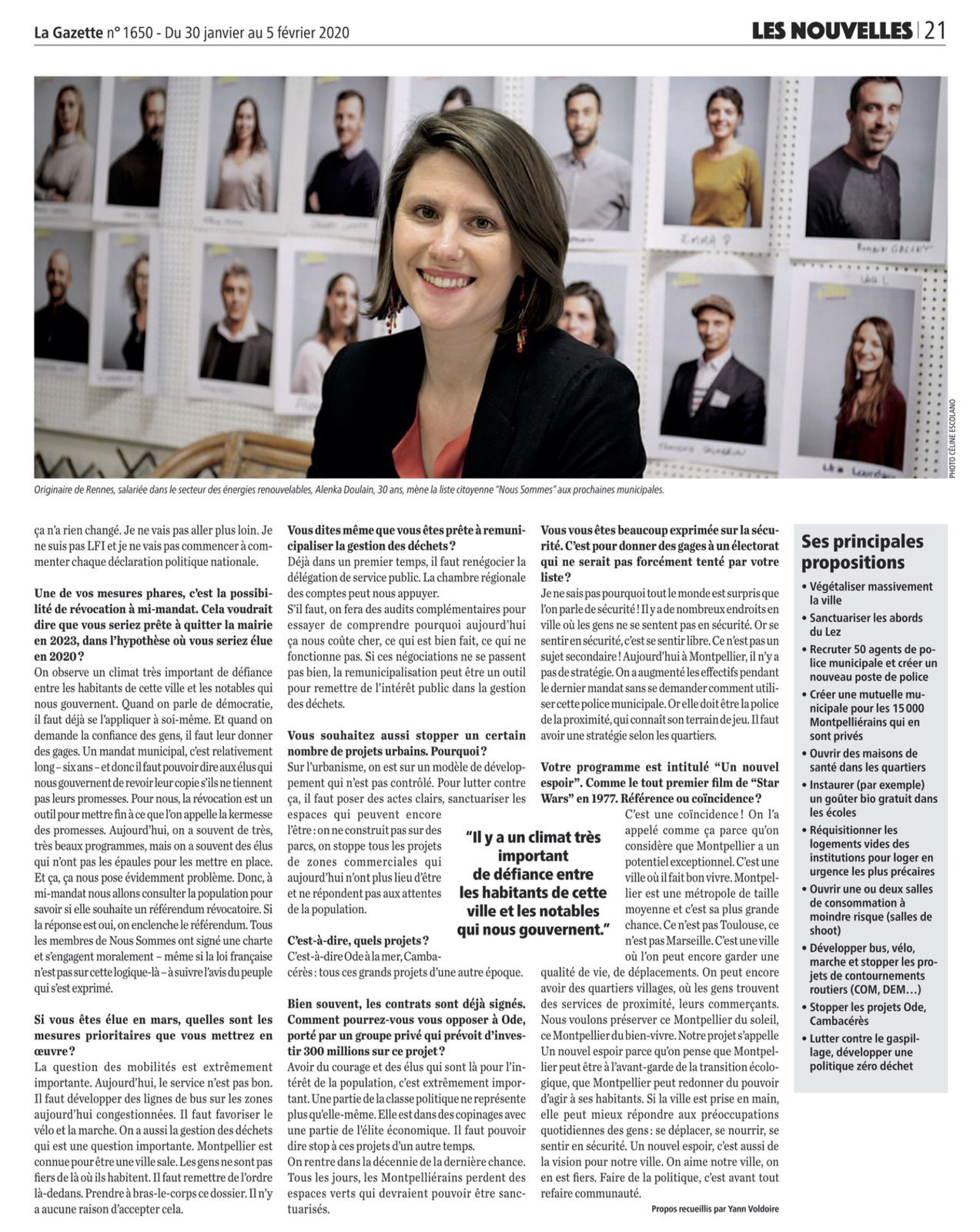 #Alenka2020 #NousSommes : Interview à la Gazette de Montpellier