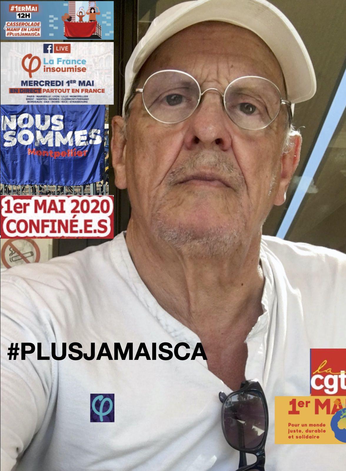 1er mai 2020 Confiné à Montpellier #ONNOUBLIEPAS #PLUSJAMAISCA
